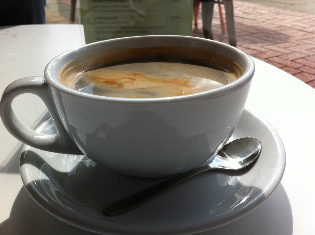 Both Myself and Mr Gourmand had an americano coffee, surprisingly many ...