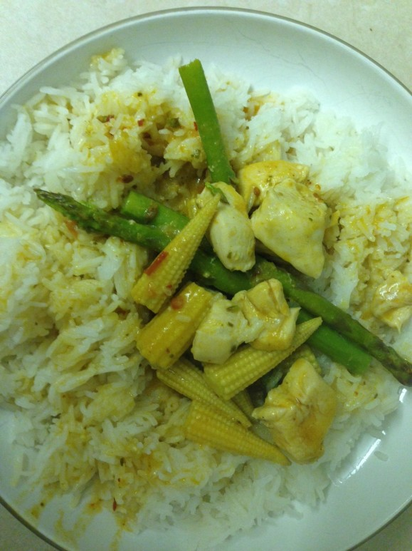 thai red curry_rice