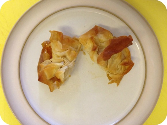 brie and mango parcels