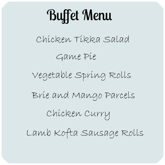 buffet menu