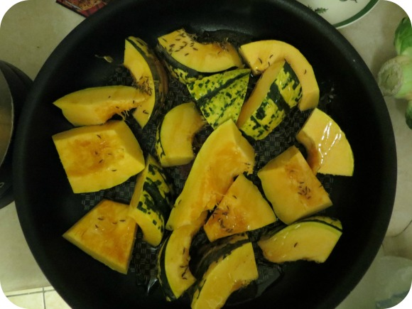 Squash with cumin seeds